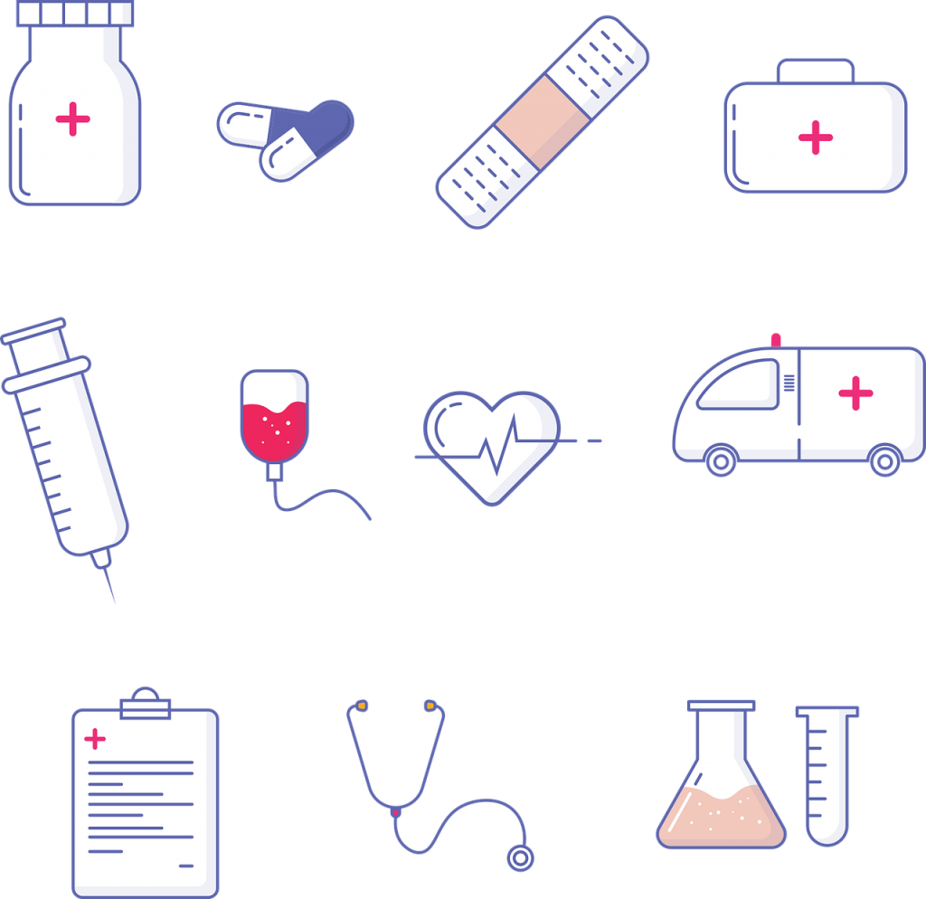 medical, hospital, icons